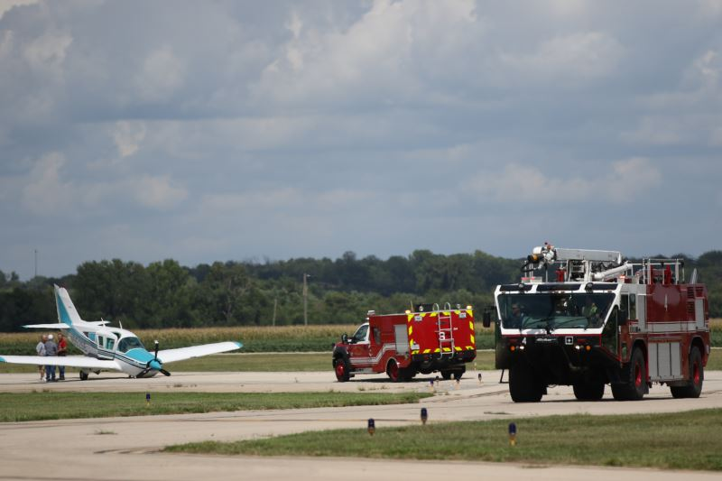 190th ARW firegfighters stand by to assist