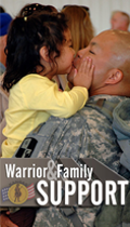 Warrior and family Support graphic